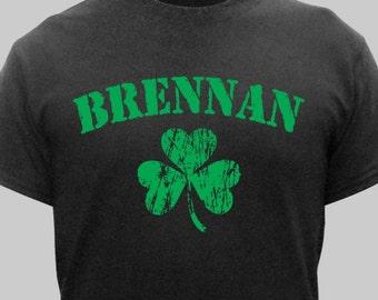 Personalized Irish Shamrock Adult T-Shirt, Irish Name Shirt