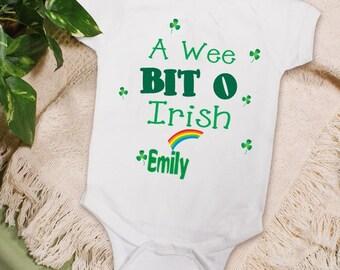 A Wee Bit O Irish Baby Creeper or T-shirt, Irish Creeper, Irish T-Shirt