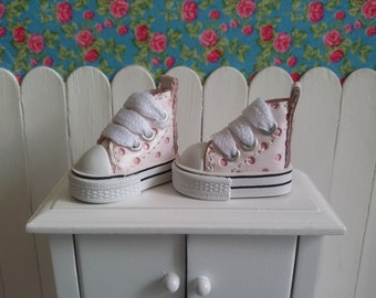Pink low shoes polka dots for Blythe, Pullip and Pure Neemo