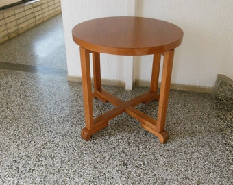 Art deco side table  in ash wood-1920s, coffe table.