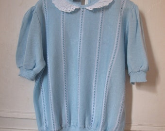 Canda Baby Blue Knitted Top