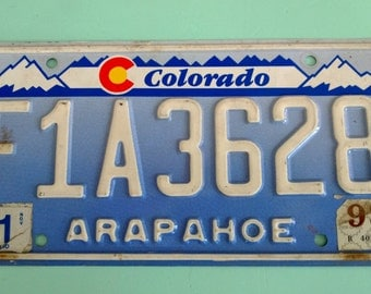Vintage Colorado Embossed License Plate Free Shipping