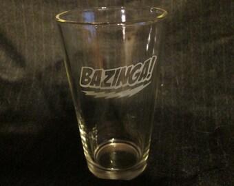The Big Bang Theory Bazinga Pint Glass