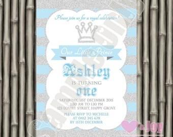 Prince Invitation, Prince Invite, Royal Birthday Invite, Royal Birthday, Prince Birthday, Boy Birthday, 1st Birthday Invitation PRINTABLE