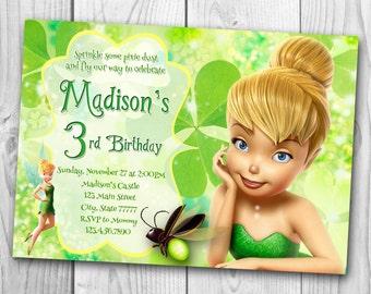 Tinker Bell Invitation - Tinker Bell Birthday Party Invitation - Tinker Bell Printables - Fairy Invitation