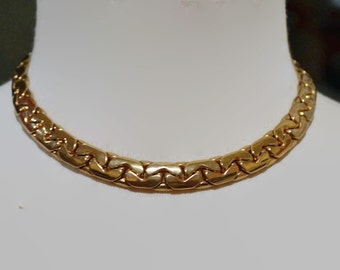 Vintage gold rhodium plated necklace/chain necklace/vintage necklace/an.367