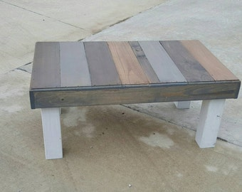 Farmhouse coffee table - rustic table - farmhouse furniture - trending - popular items - reclaimed wood coffee table -