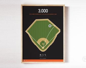 Ichiro 3,000th Hit Poster