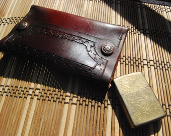 Deluxe hand-carved Tobacco Pouch
