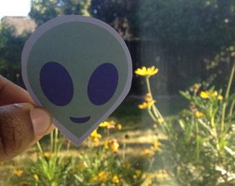 Alien Face Sticker (ct. 1)