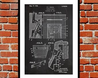 Fireplace Heater Patent, Fireplace Poster, Fireplace Blueprint,  Fireplace Print, Fireplace Art, Fireplace Decor sp361