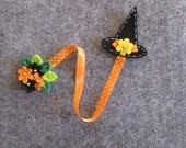 Halloween Bookmark; Witch Hat bookmark; Felt bookmark; Planner accessories; Gift for Readers; Halloween  Party Favors; Stocking stuffers.