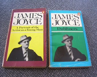 Portrait of the Artist as a Young Man and Dubliners by James Joyce 60s Vintage