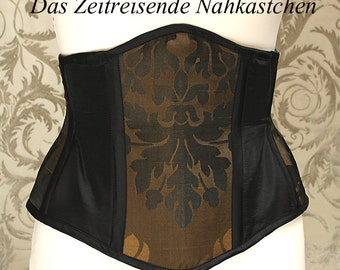 Underbust-Corset, black and gold