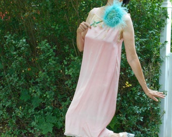 Pretty Pink 1920's Flapper/Great Gatsby Silk Nightgown