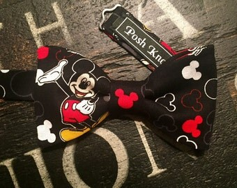 Mickey Mouse Bow Tie, Mickey Bow Tie, Pre-Tied Only, Adjustable Neckband