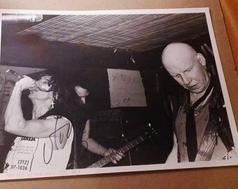 Autographed Black & White Photo of  The Dead Boys