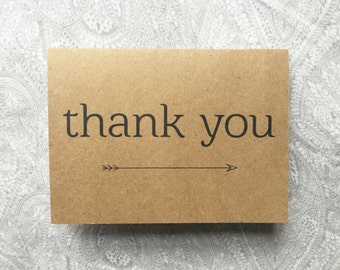 The Arrow Thank You Card Set (Kraft)