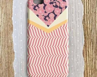 Pink floral phone case pink herringbone pink and purple floral phone case peach purple floral iPhone pink floral iPhone pink floral Samsung