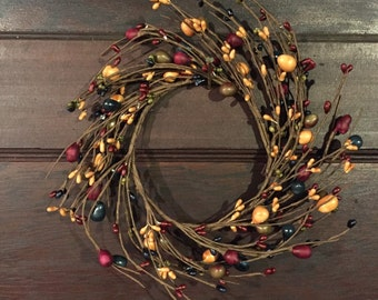 Candle Ring-Small Wreath-Pip Berry Ring-Primitive Candle Ring-Primitive Decor