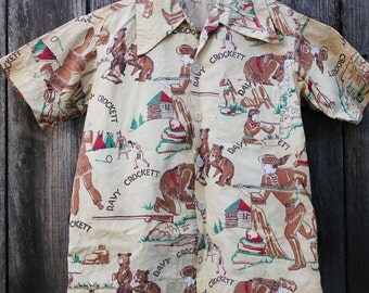 Vintage 1950s Davy Crockett shirt