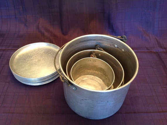 Vintage Cookware Retro Camping Supplies Aluminum Cookware