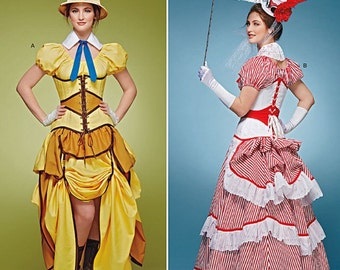 Simplicity pattern 8159 Steam Punk Colsplay costume role-play Bustle  6–14 & 14-22
