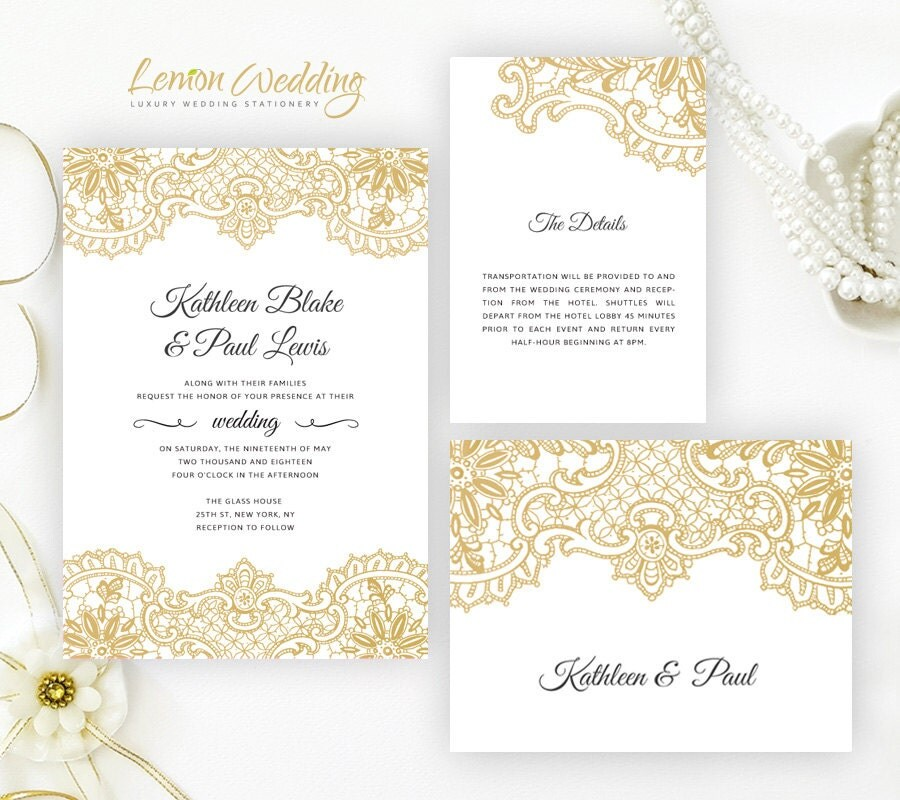 Wedding Invitation Printed On Shimmer Cardstock Elegant