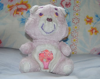 Care bears plush vintage - Care Bears - purple - cream - toy retro - year 80