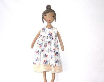 cloth doll, doll, rag doll, stoffpuppe, fabric doll, puppe