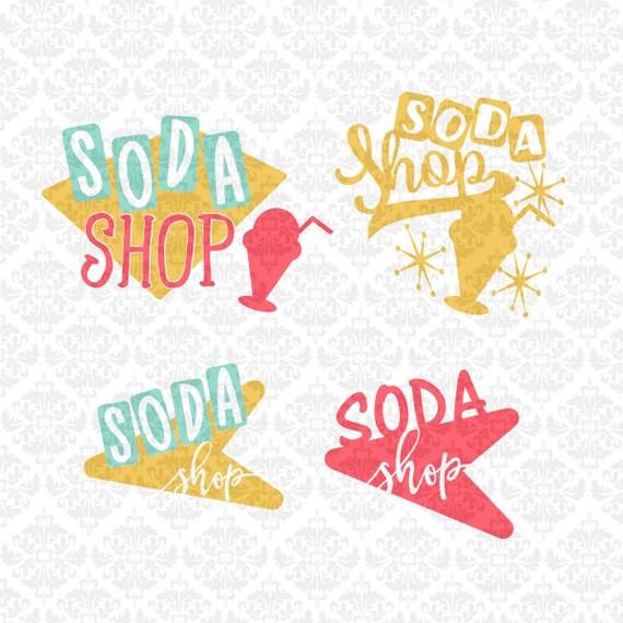 Soda Shop Ice Cream Malt Shop Retro Classic SVG DXF STUDIO Png Ai Eps Vector Instant Download Commercial Cutting FIle Cricut Silhouette