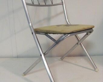 Mid Century Modern Aluminum Children's Folding Chair