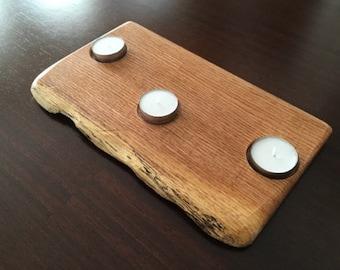 Reclaimed Wood Tea Light Holder