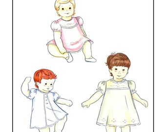Creations by Michie' #127 - Baby Dress - Sizes: Newborn – 24 months - Sewing Pattern Instant Download Printable