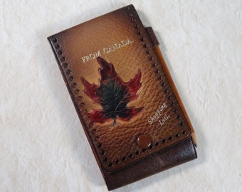 Leather Shopping List with Pencil Souvenir from Canada
