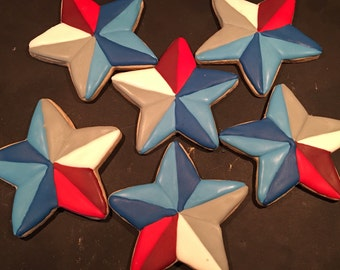 Red white and blue stars