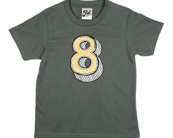 8 birthday shirt, 8th Birthday outfit, 8 year old girl/ boy Number eight T-Shirt- kids eighth tshirt- Any size! Age 8