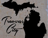 Set of 4 Traverse City Heart Coasters