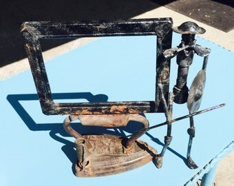 Steampunk picture frame