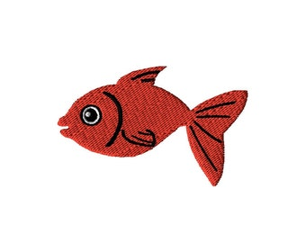 Fish Embroidery Design - Tropical Embroidery Digital File - Fish Design - Machine Embroidery - Digital Embroidery Design- For Children