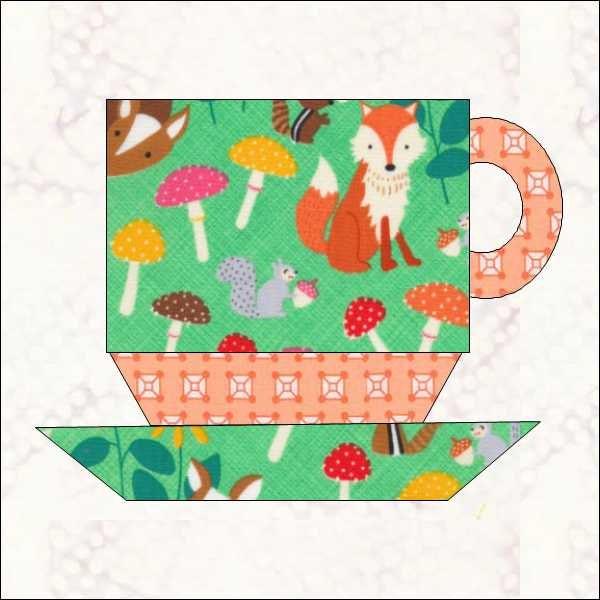 Coffee Cup Pattern Cup Quilt Block Tea Quilt Appliqu 233