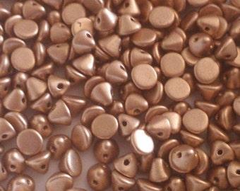 Button Beads 4 mm 1710 Aztec Gold 30 Pcs