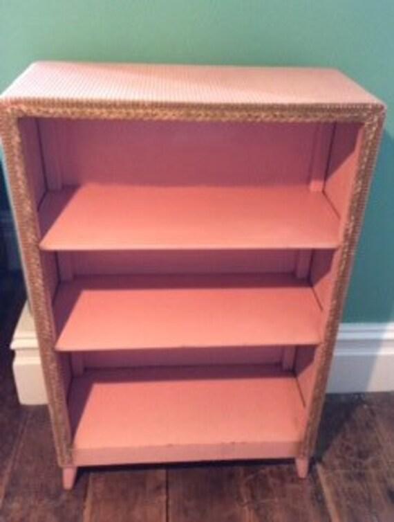 original lloyd loom style bookcase rare. Black Bedroom Furniture Sets. Home Design Ideas