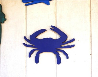 SALE* Blue Crab Wood Home Wall Decor Kids Room Nursery Beach House
