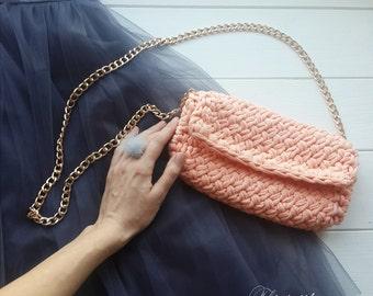 Clutch, Knitted clutch, knit clutch, bag, knitted bag, purse, knitted purse, summer bag, stylish clutch