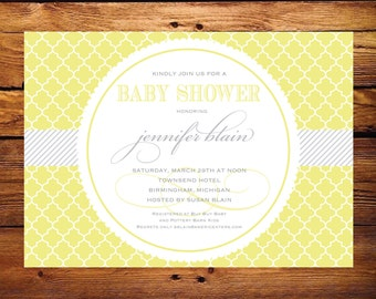 Baby Shower Invitation - Neutral and Modern