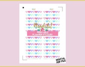 Item #0001 PRINTABLE 7 Weekend Hearts Stickers (Perfect for Erin Condren Planners)