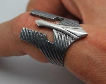 Men's warrior mask ring