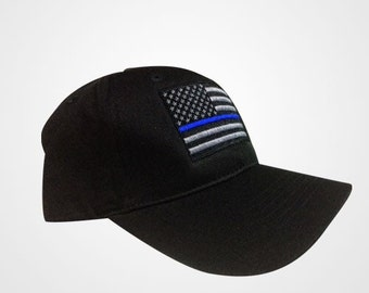 Thin Blue Line NY Flag police hat  NOW flexfit option available