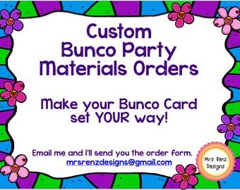 Custom Bunco Set